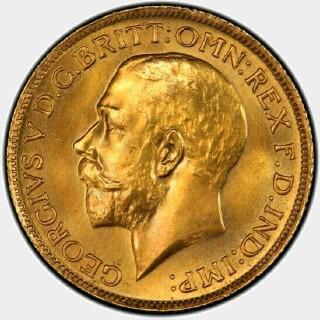 1926-S Specimen Full Sovereign obverse