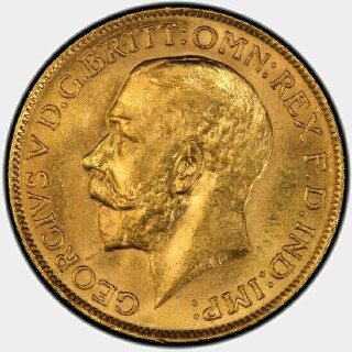 1921-M  Full Sovereign obverse