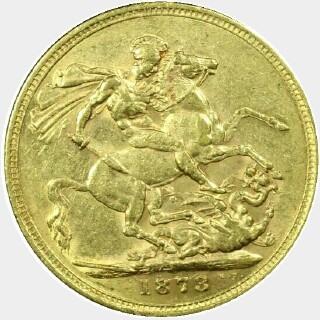 1873-S Narrow Truncation Long Tail Full Sovereign reverse