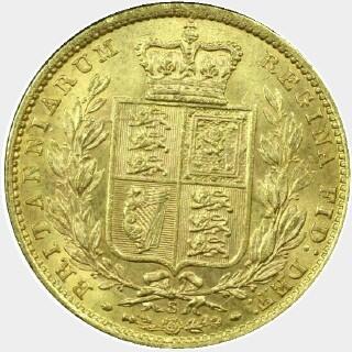 1872-S  Full Sovereign reverse