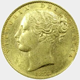 1872-S  Full Sovereign obverse