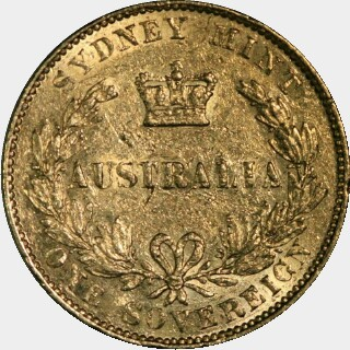 1863  Full Sovereign reverse