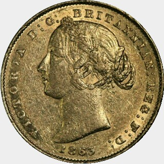 1863  Full Sovereign obverse