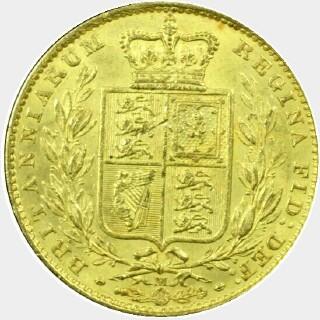 1882-M  Full Sovereign reverse