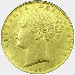 1882-M  Full Sovereign obverse