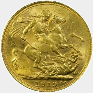 1919-S  Full Sovereign reverse