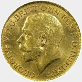 1919-S  Full Sovereign obverse