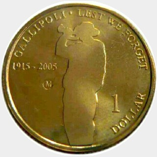 2005  One Dollar reverse