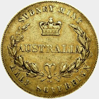 1861 Alternate Reverse Half Sovereign reverse