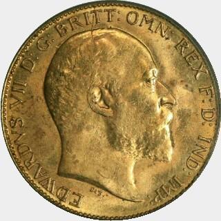 1909-M  Half Sovereign obverse