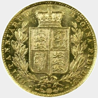 1886-M  Full Sovereign reverse